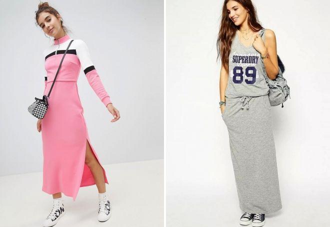 длинные спортивные платья