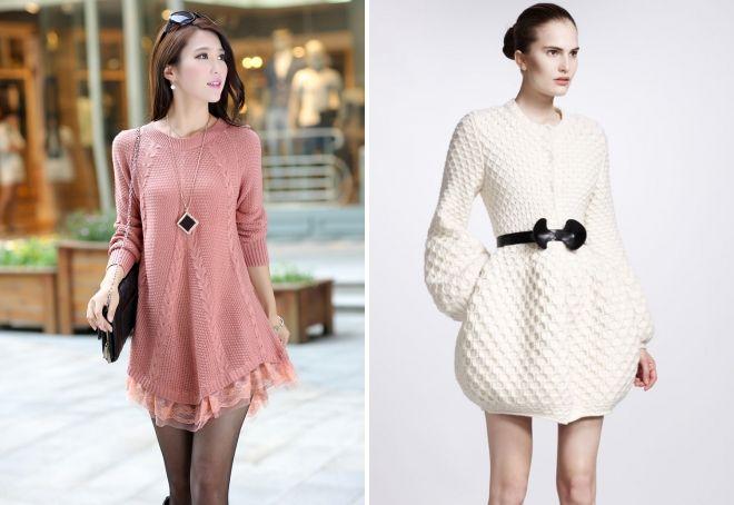 вязаное кофта платье