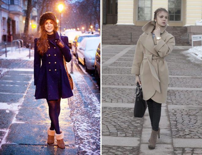 пальто с ботильонами