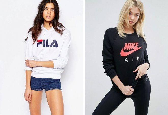женские брендовые свитшоты
