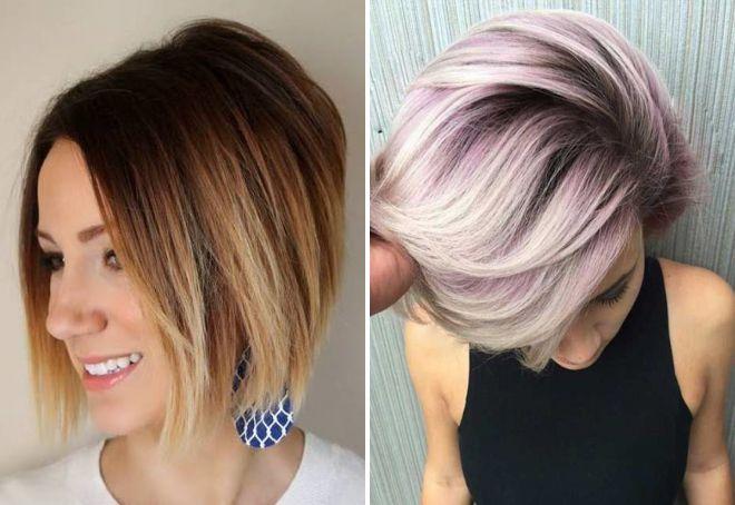 Мелирование на короткие волосы фото женские