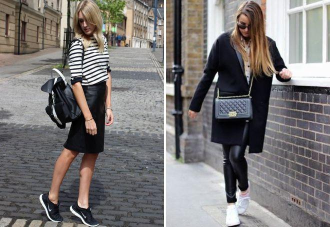 کیسه چرم سیاه و سفید