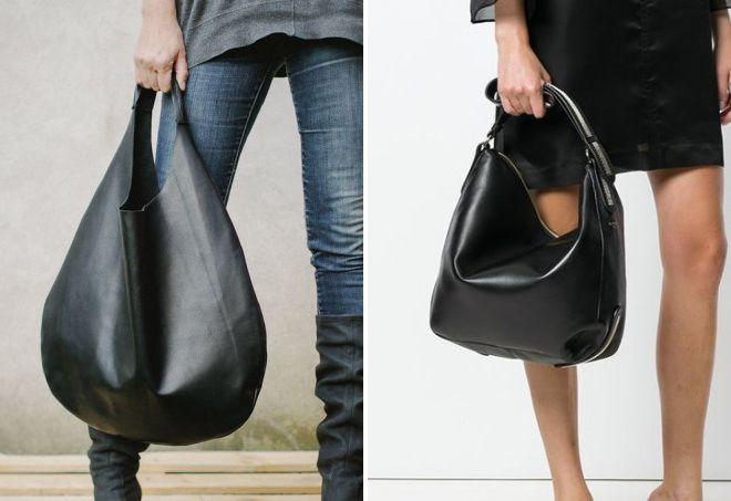 مد کیف چرم سیاه و سفید