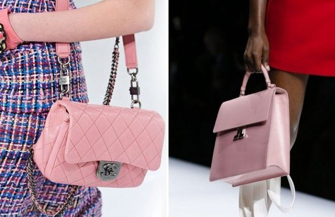 розовая сумка для девушек 2018
