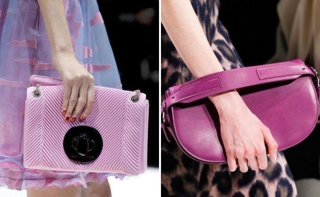 маленькая розовая сумка