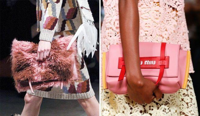 розовая сумка клатч