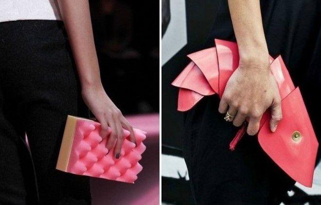 ярко розовая сумка клатч