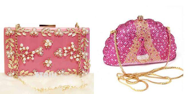 маленькая розовая сумка клатч