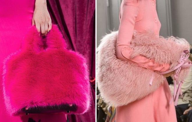 женские розовые сумки