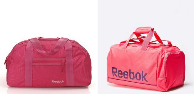 розовая спортивная сумка reebok 2018