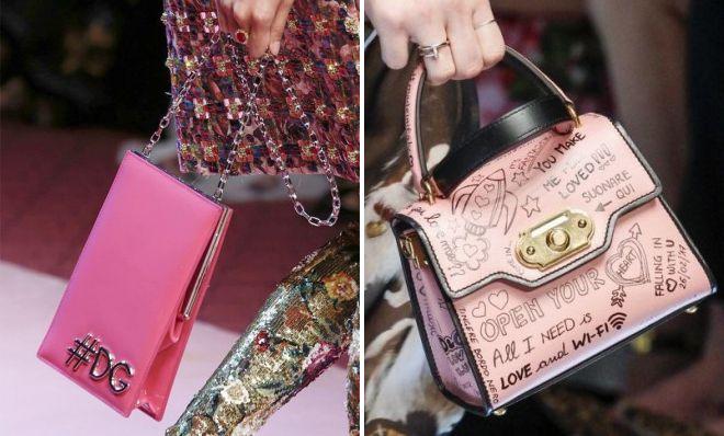 брендовые розовые сумки