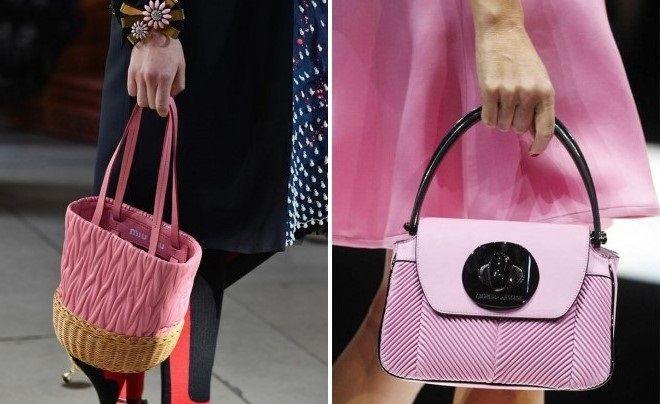 брендовые розовые сумки 2018