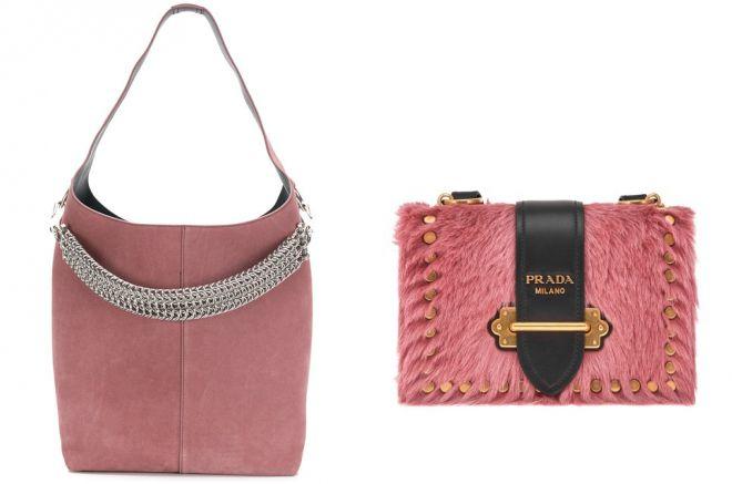 брендовые розовые сумки 2018 года