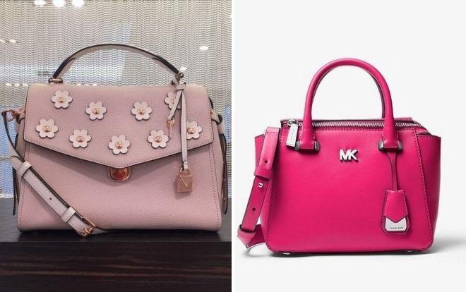 розовая сумка michael kors