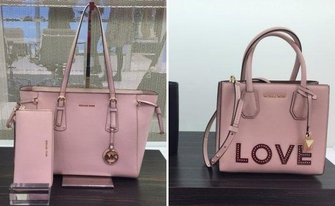 розовая сумка майкл корс