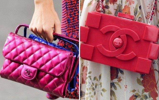 розовая сумка шанель