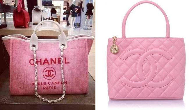 розовая сумка chanel