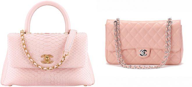 классическая розовая сумка шанель