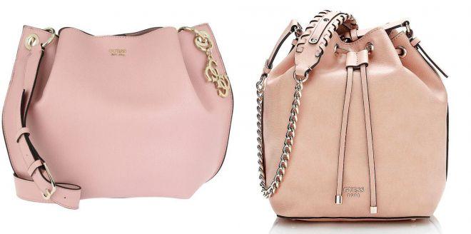 розовая сумка guess