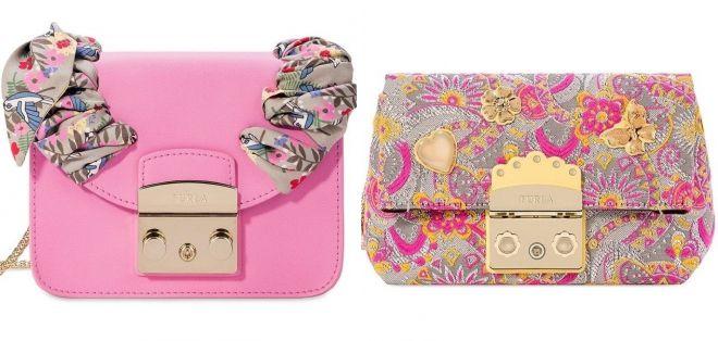 маленькая розовая сумка фурла