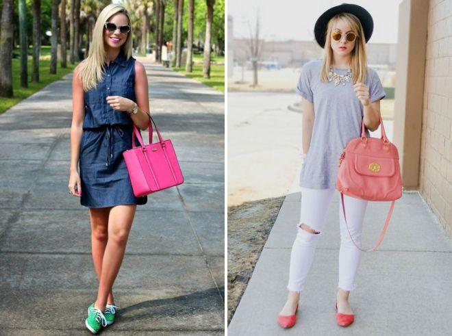 стильные розовые сумки