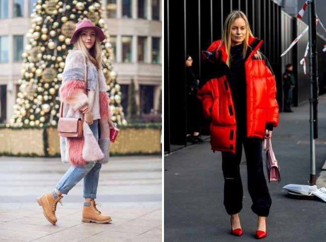 с чем носить розовую сумку зимой