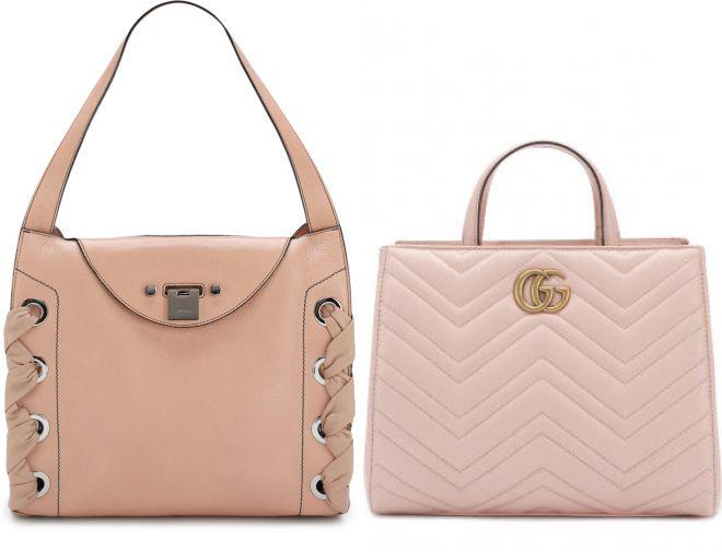 нежно розовая сумка