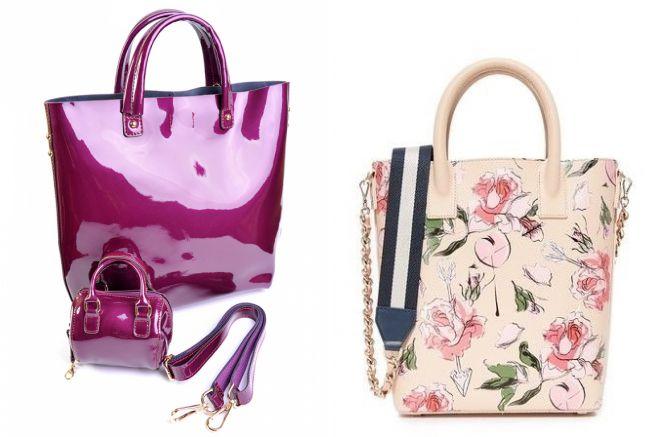 модная розовая сумка шопер