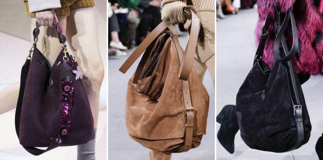 замшевая сумки хобо
