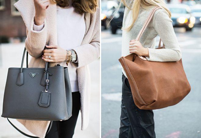 сумка тоут и шоппер в чем разница