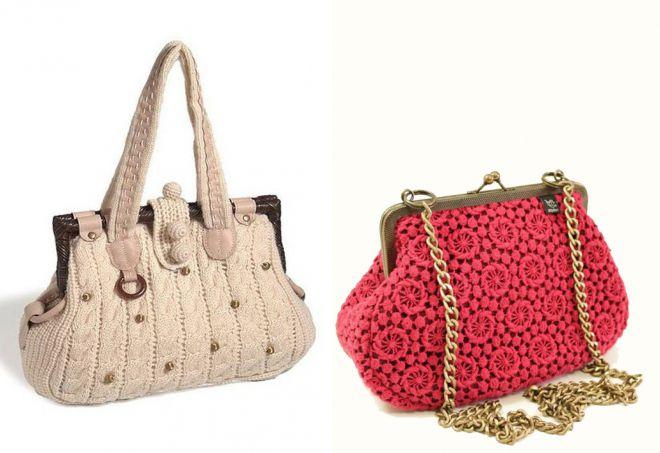 красивые вязаные сумки