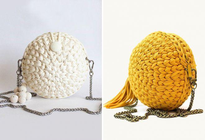 sac à bandoulière tricoté