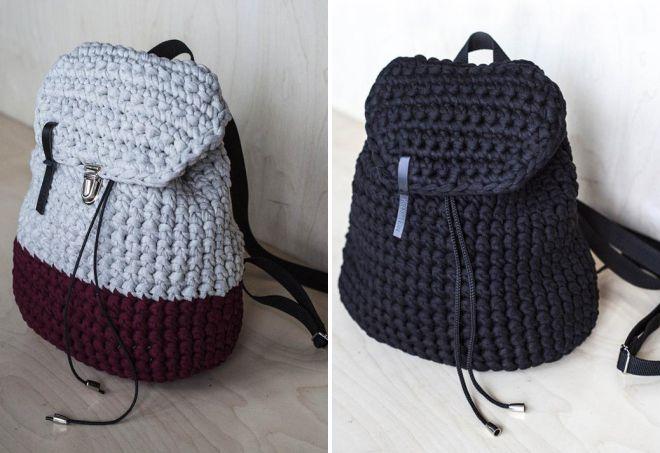 модные женские вязаные сумки из трикотажной пряжи вышитые