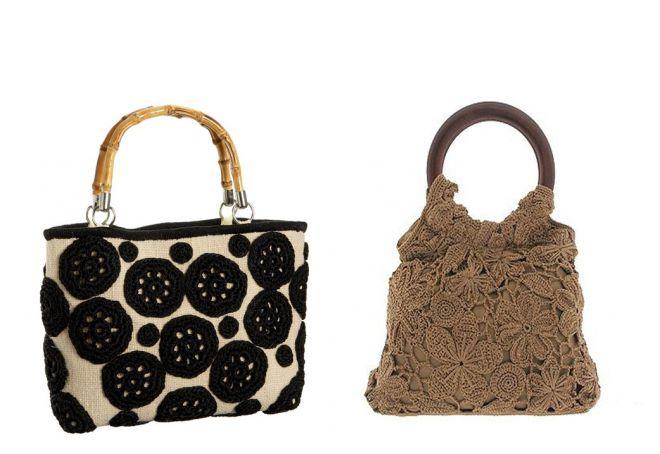 модели вязаных сумок