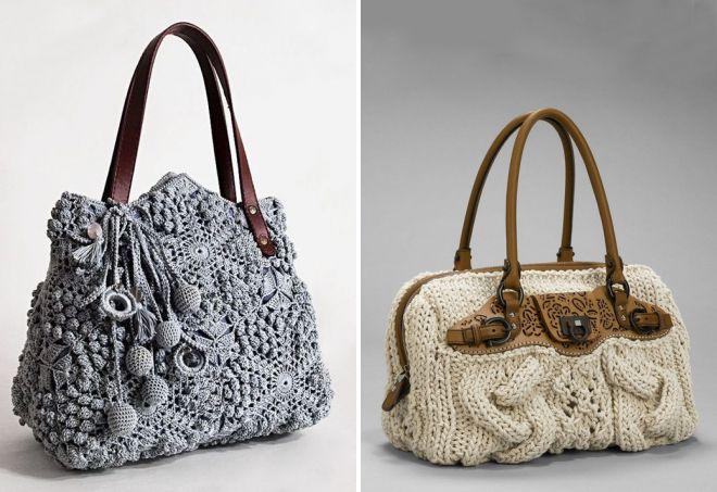modèles de sac tricoté
