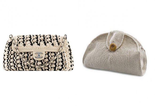 вязаные сумки 2018 года модные тенденции