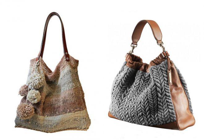 вязаная сумка в стиле бохо