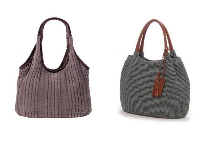 sacs tricotés brodés
