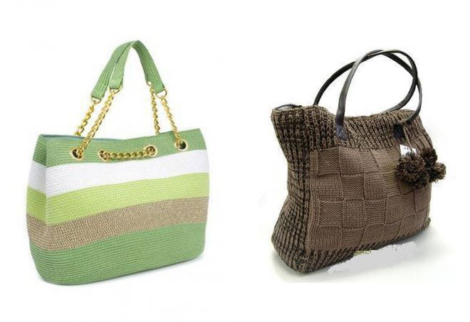 sac shopping tricoté