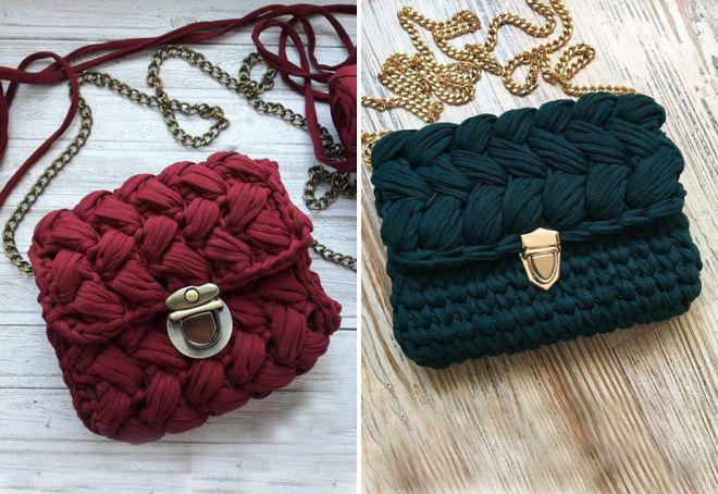 sacs en guimauve tricotés