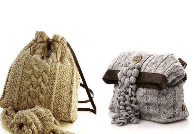 с чем носить вязаную сумку (2)