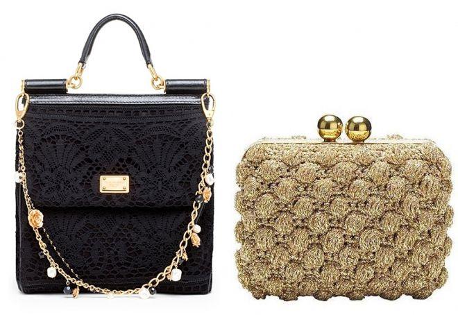 стильные вязаные сумки