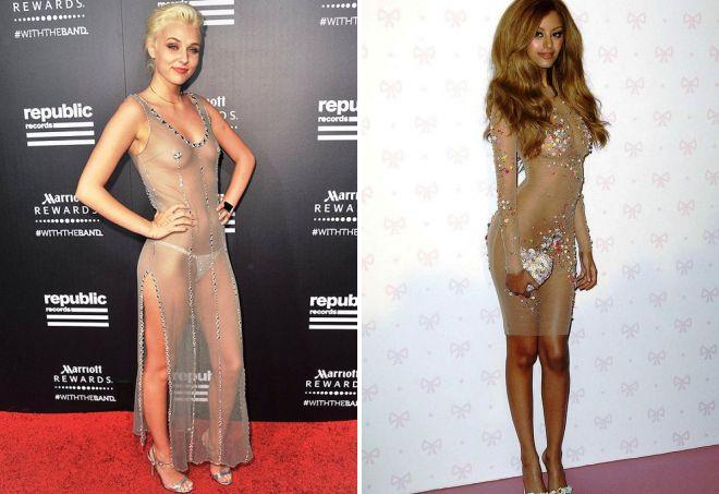 платья с эффектом голого тела