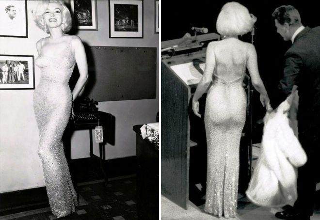 голое платье мэрилин монро