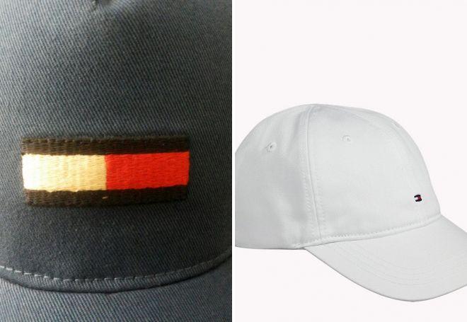 бирки на кепке томми хилфигер