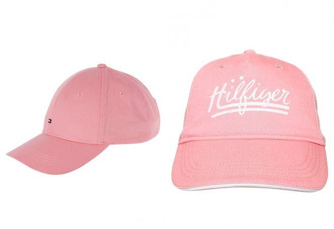 розовая кепка tommy hilfiger