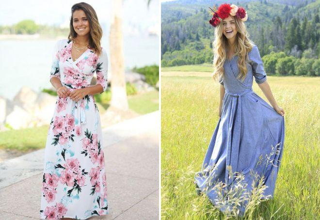 модные платья из штапеля