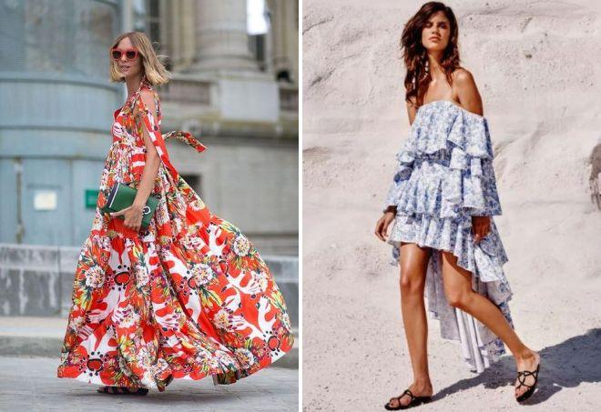 многоярусные платья из штапеля