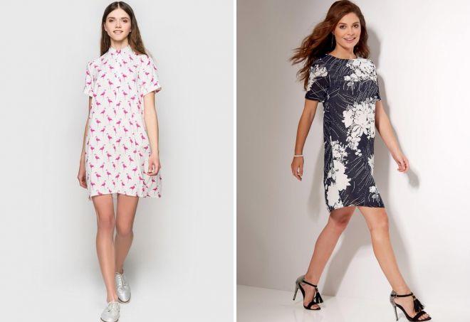 летние штапельные платья