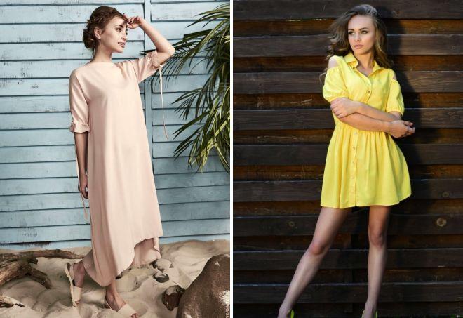платья из штапеля фасоны 2017